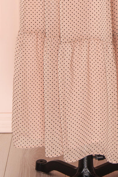 Yseult Light Pink Long Sleeved Maxi Dress | La petite garçonne skirt