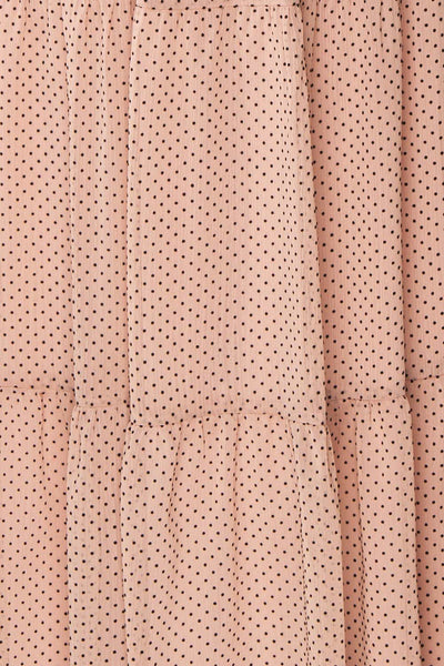 Yseult Light Pink Long Sleeved Maxi Dress | La petite garçonne fabric