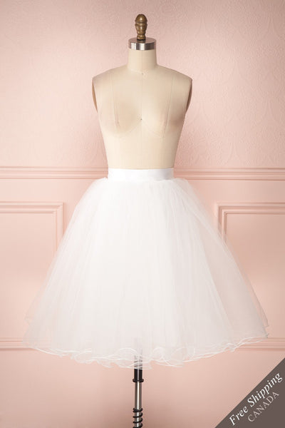Zana White Tulle Voluminous A-Line Skirt | Boudoir 1861 1