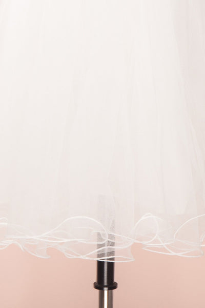 Zana White Tulle Voluminous A-Line Skirt | Boudoir 1861 8