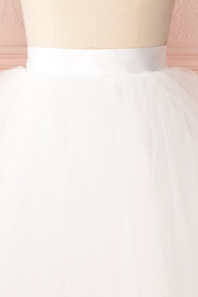 Zana White Tulle Voluminous A-Line Skirt | Boudoir 1861 3