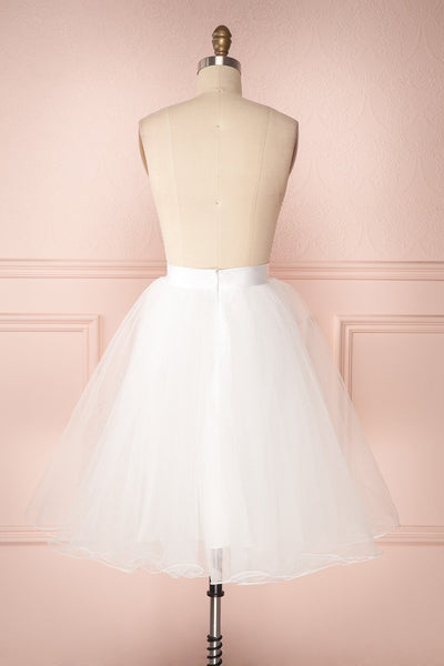 Zana White Tulle Voluminous A-Line Skirt | Boudoir 1861 6