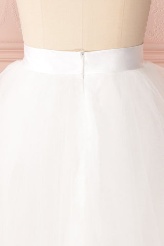 Zana White Tulle Voluminous A-Line Skirt | Boudoir 1861 7
