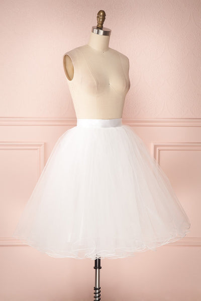 Zana White Tulle Voluminous A-Line Skirt | Boudoir 1861 4