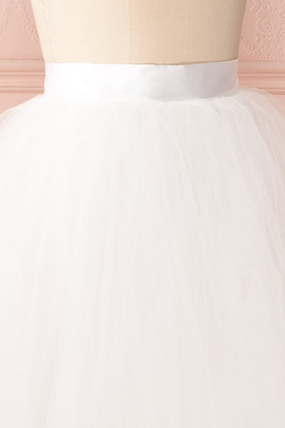 Zana White Tulle Voluminous A-Line Skirt | Boudoir 1861 5
