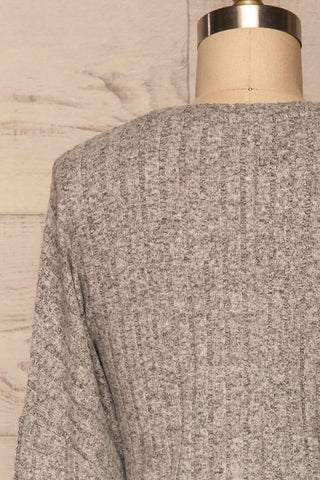 Zaragoza Sweater Dress | Robe Grise | La Petite Garçonne back close-up