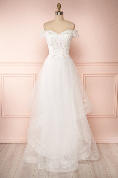 Zaristelle White A-Line Bridal Dress | Robe | Boudoir 1861