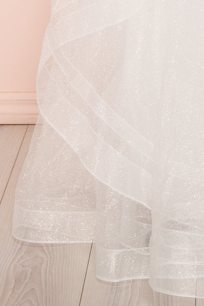Zaristelle White A-Line Bridal Dress | Robe skirt | Boudoir 1861