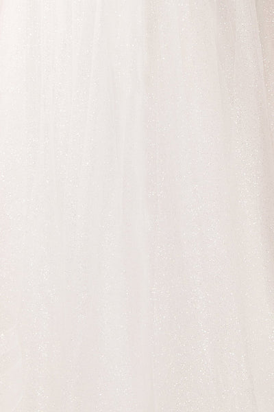 Zaristelle White A-Line Bridal Dress | Robe fabric | Boudoir 1861