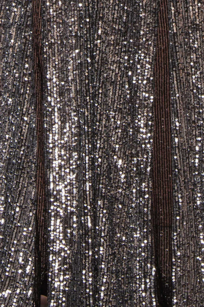 Zenobia Black Sequin Maxi Dress fabric | Boutique 1861
