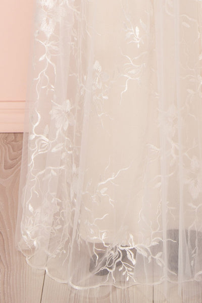 Zenzel Day Cream Embroidered Tulle Maxi Gown | Boudoir 1861