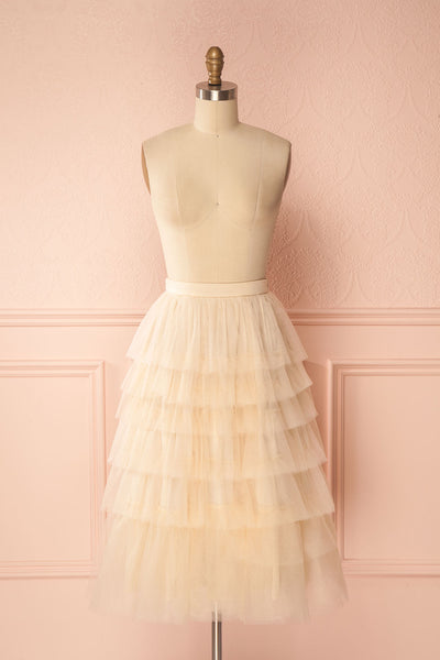 Ziska Day Cream Layered Tulle A-Line Skirt | Boutique 1861 1