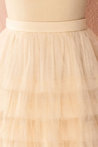 Ziska Day Cream Layered Tulle A-Line Skirt | Boutique 1861 3