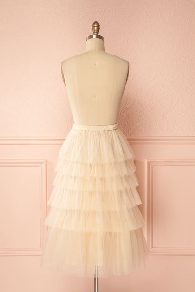 Ziska Day Cream Layered Tulle A-Line Skirt | Boutique 1861 6