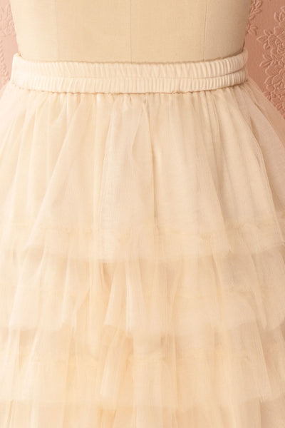 Ziska Day Cream Layered Tulle A-Line Skirt | Boutique 1861 4