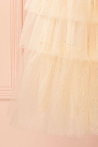Ziska Day Cream Layered Tulle A-Line Skirt | Boutique 1861 5