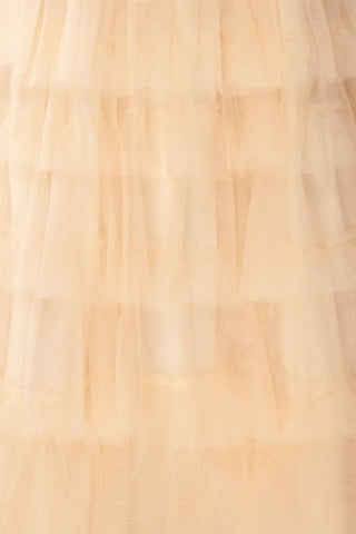 Ziska Day Cream Layered Tulle A-Line Skirt | Boutique 1861 9