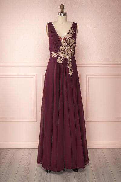 Zissel Bourgogne Burgundy A-Line Gown | Boutique 1861