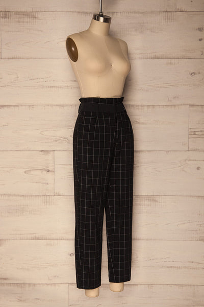 Zlatar Black & White Checkered Straight Leg Pants | La Petite Garçonne 4