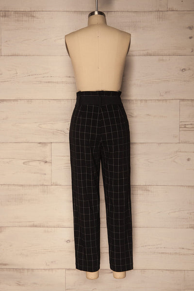 Zlatar Black & White Checkered Straight Leg Pants | La Petite Garçonne 6