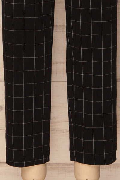 Zlatar Black & White Checkered Straight Leg Pants | La Petite Garçonne 8