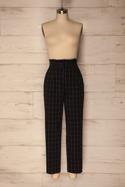 Zlatar Black & White Checkered Straight Leg Pants | La Petite Garçonne 1
