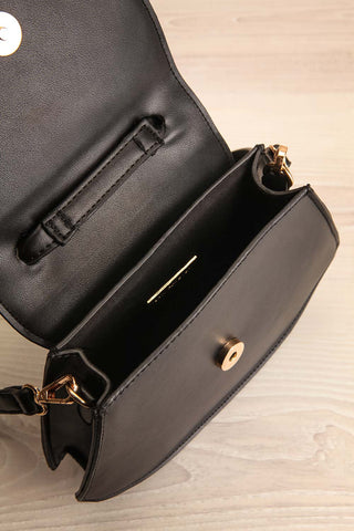 Aarhus Black Faux-Leather Handbag inside view | Boutique 1861