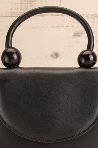 Aarhus Black Faux-Leather Handbag close-up | Boutique 1861