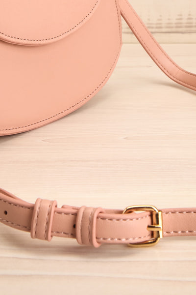 Aarhus Pink Faux-Leather Handbag side | Boutique 1861
