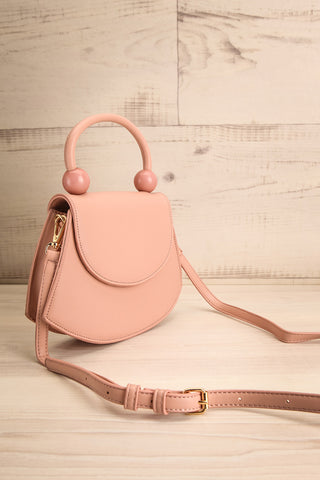 Aarhus Pink Faux-Leather Handbag side view | Boutique 1861