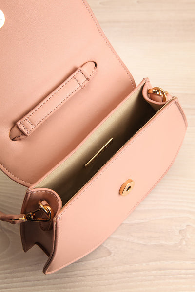 Aarhus Pink Faux-Leather Handbag inside view | Boutique 1861