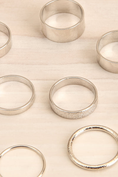 Abanec Silver Set of Rings | Bagues | La Petite Garçonne close-up