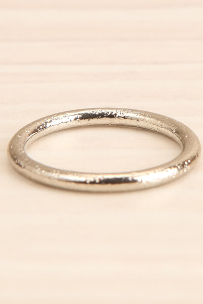 Abanec Silver Set of Rings | Bagues | La Petite Garçonne small textured close-up