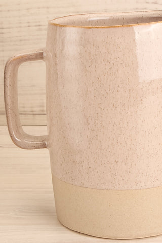 Abaucourt Speckled Grey Ceramic Pitcher handle close-up | La Petite Garçonne Chpt. 2