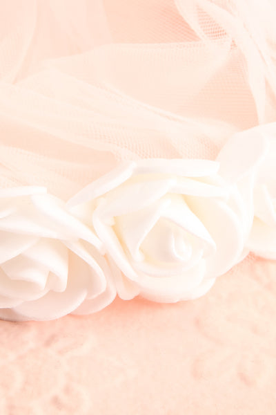 Abbrevio White Wedding Veil with Floral Headband | Boudoir 1861 7