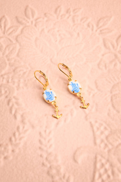 Abby Muirol Blue Nautical Pendant Earrings | Boutique 1861