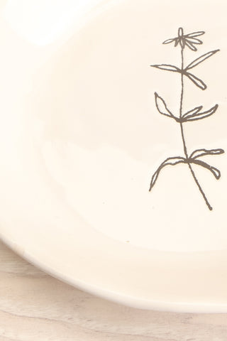 Aberdare White Ceramic Plate with Flower flat lay close-up | La Petite Garçonne Chpt. 2