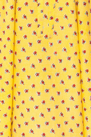 Abiko Yellow Floral A-Line Summer Dress | Boutique 1861 8