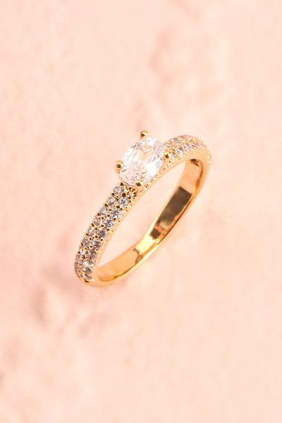 Abvolo Or Golden Crystal Studded Ring | Boutique 1861 5