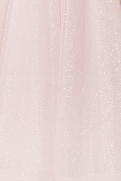 Acacia Lilac Floral Embroidered Tulle Maxi Dress | Boudoir 1861 close-up