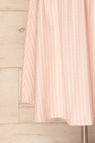 Accrington Pink Striped Button-Up A-Line Summer Dress | Boutique 1861 8