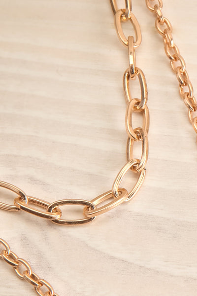 Acrius Gold Layered Chain Necklace w Pendants | La Petite Garçonne 5
