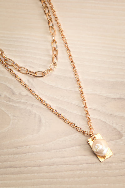 Acrius Gold Layered Chain Necklace w Pendants | La Petite Garçonne 4