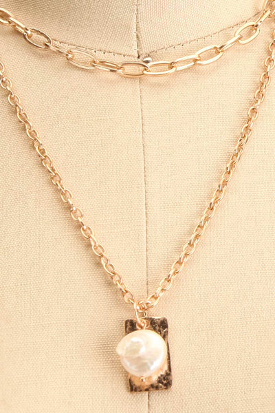 Acrius Gold Layered Chain Necklace w Pendants | La Petite Garçonne 6