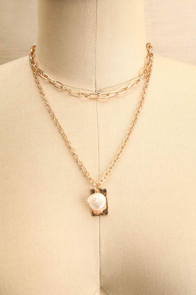 Acrius Gold Layered Chain Necklace w Pendants | La Petite Garçonne 1