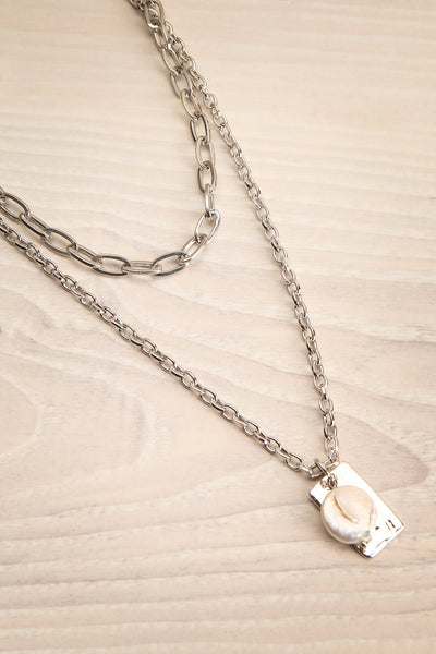 Acrius Silver Layered Chain Necklace w Pendants | La Petite Garçonne 4