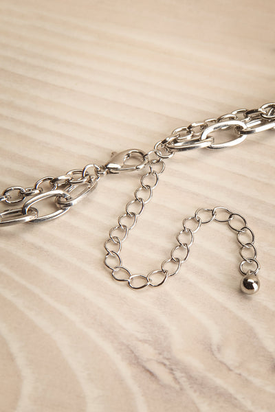Acrius Silver Layered Chain Necklace w Pendants | La Petite Garçonne 7