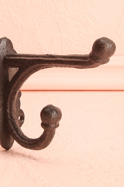 Adagio Antique Style Wrought Iron Wall Hook | Boutique 1861 2