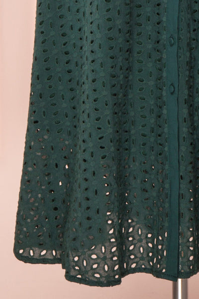 Adalynn Vert Lace Midi A-Line Dress | Robe skirt | Boutique 1861