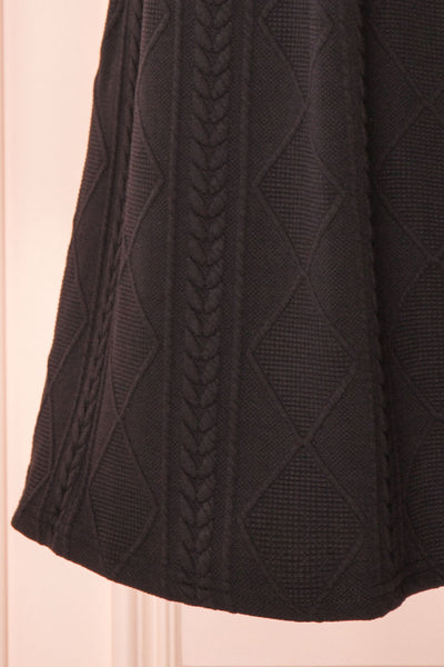 Adema Black Puffy Sleeve Knitted Dress | La petite garçonne bottom